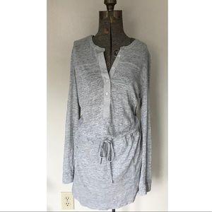 Vince Gray Sweatshirt Dress